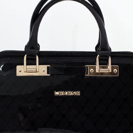 丽佳娜时尚漆皮手提包E30533